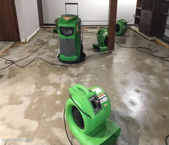water damage incident in basement